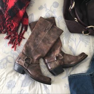 Frye Tall Harness Boots